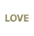 print for a t-shirt with the slogan love and vector image vector image