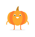 pumpkin cute vegetable character halloween vector image