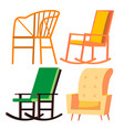rocking chair retro furniture comfortable vector image vector image