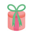 round gift box decoration bow icon vector image