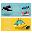 running sport shoes flyers vector image vector image