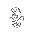 sea horse line icon concept sea horse vector image