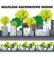 Seamless background with gray buildings vector image