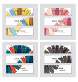 set of business banner template horizontal vector image vector image