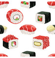 sushi seamless pattern japanese food bar or vector image