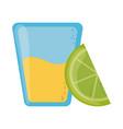 tequila shot and lemon slice cinco de mayo mexican vector image vector image