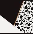 terrazzo pattern design vector image vector image
