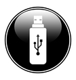 Usb flash button vector image