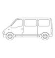 van on white background vector image vector image