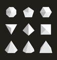 variety geometric shapes set vector image vector image