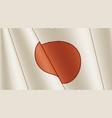 vintage flag japan close-up background vector image vector image