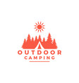 vintage retro forest camping logo emblem summer vector image