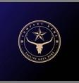vintage texas star longhorn bull logo design vector image