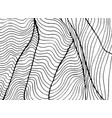 waves abstract decorative ornament coloring page vector image vector image