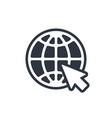web icon website pictograph internet symbol vector image