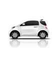 white realistic midget mini car vector image vector image