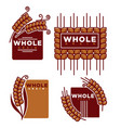 whole grain product isolated emblems set with ripe vector image vector image
