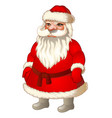 xmas santa claus festive character for decorating vector image