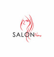 beauty salon line art logo design vector image