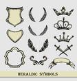 heraldic symbols hand drawing vector image