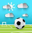 Soccer Ball on Playground Football Footbal vector image