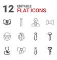 12 tie icons vector image vector image