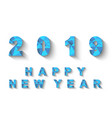 2019 low poly blue happy new year vector image