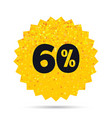 60 percent discount sign icon sale symbol vector image vector image
