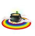 A pot of gold inside the rainbow vector image vector image