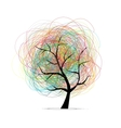 Abstract tree for your design vector image vector image