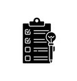 agenda worksheet black glyph icon