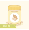 Almond butter in jar vector image vector image