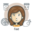 avatar man with food design vector image vector image