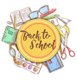 back to school hand drawn background education vector image