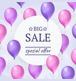 balloons with round banner vector image vector image