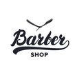 Barber shop hand written lettering caligraphy vector image