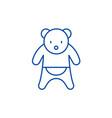 bear line icon concept bear flat symbol vector image