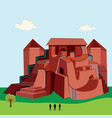 big red castle vector image vector image