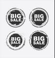 big sale stamp vector image vector image