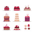 birthday cake confectionery from biscuit vector image