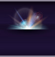 blurred light rays and lens flare backdrop with vector image vector image