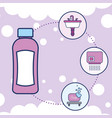 bottle shampoo washbasin hand dryer and soap vector image vector image