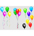 bunches and groups of colorful helium balloons vector image vector image
