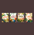 bundle of poster templates with colorful vector image vector image