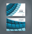 business cards with bblue tiles design template vector image vector image