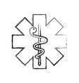 caduceus medical shield vector image
