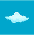cartoon icon of small fluffy cloud with lights and vector image vector image