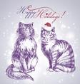 cat sketch vector image vector image