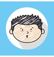 child head vector image