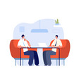 coffee with colleagues office relax professional vector image vector image